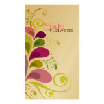 Colourful Floral Deco Leaves Nature Profile Card Pack Of Standard Business Cards