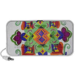 colourful floral design on items mini speaker