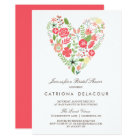 Colourful Floral Heart Spring Bridal Shower Card