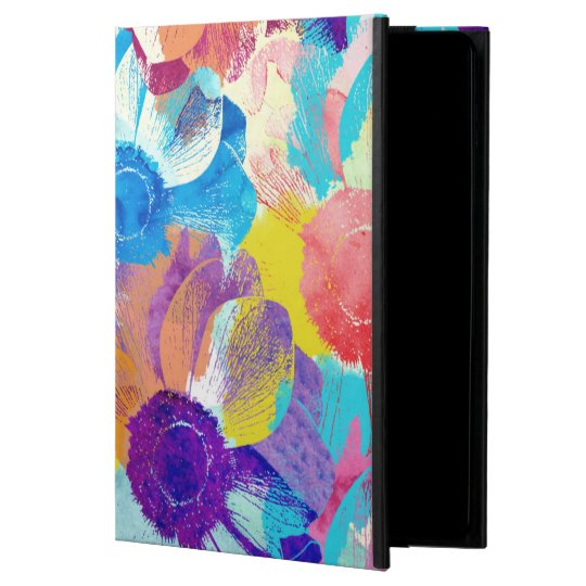 Colourful Floral Pattern with Anemone Flowers Powis iPad