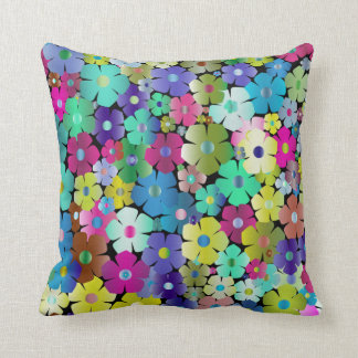 Colourful Floral Spring and Summer Flowers Cushion