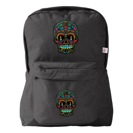 Colourful Floral Sugar Skull Backpack
