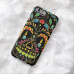 Colourful Floral Sugar Skull Burning Candles Barely There iPhone 6 Case