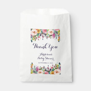 Colourful Flower Baby Shower Favour Bags