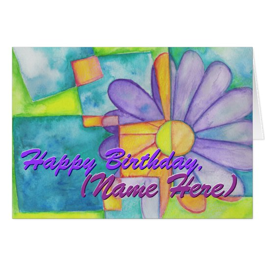 Colourful Flower Birthday Card
