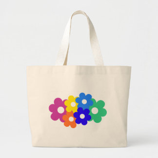 colourful flower bunch tote bags