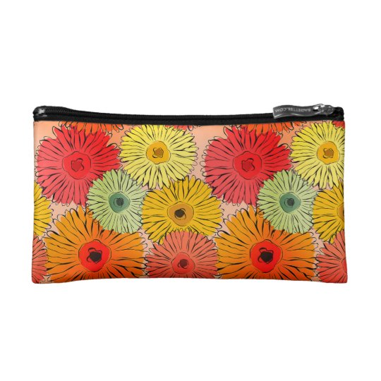 Colourful Flower Cosmetic Bag