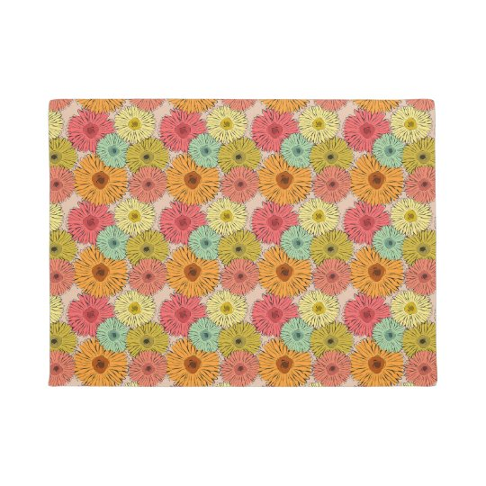 Colourful Flower Door Mat