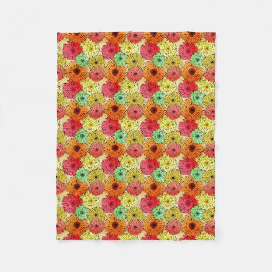 Colourful Flower Fleece Blanket (Small)