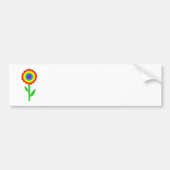 Colourful flower in rainbow colours. bumper sticker