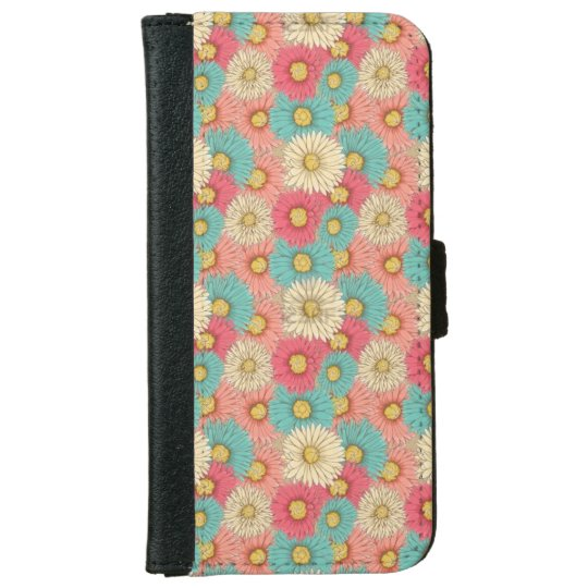 Colourful Flower Iphone 6/6s Wallet Case iPhone 6 Wallet Case