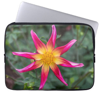 Colourful flower laptop sleeve
