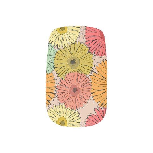 Colourful Flower Nail Art
