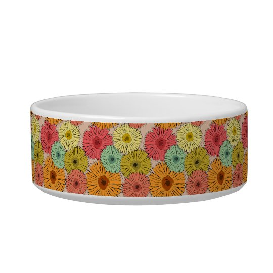 Colourful Flower Pet Bowl