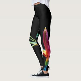 Colourful Flower Vibrant Design Leggings