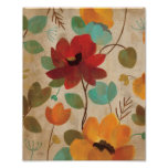 Colourful Flowers and Buds Poster