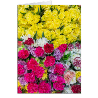 Colourful flowers card