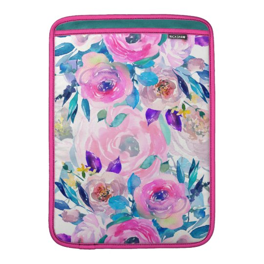 Colourful Flowers Collage Sleeve For MacBook Air