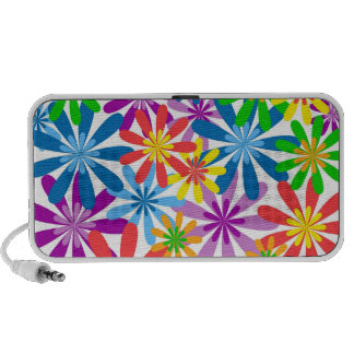 Colourful Flowers Doodle Travelling Speakers