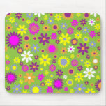 Colourful flowers seamless pattern mouse mat