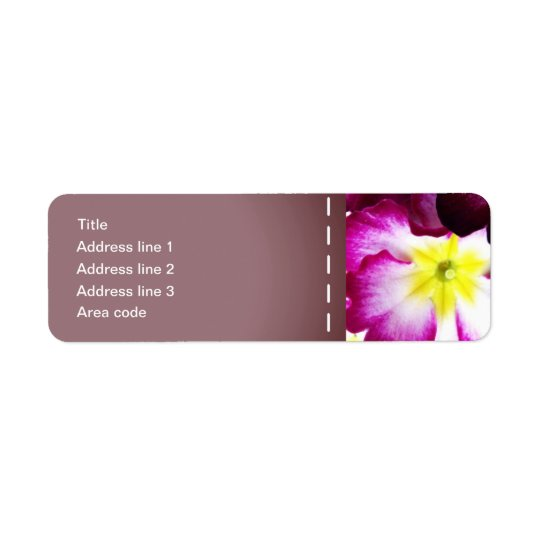 Colourful Flowers Wedding Address Labels