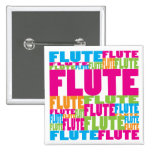 Colourful Flute Buttons