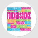 Colourful Forensic Science Round Sticker