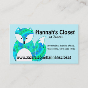 Fox business cards zazzle uk colourful fox business card reheart Gallery