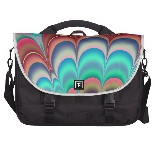 Colourful fractal abstract design laptop commuter bag