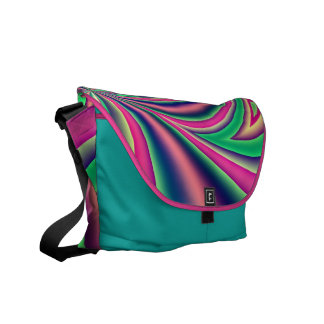 Colourful fractal abstract courier bag