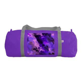 Colourful Fractal Art in Blues, Purples and Pinks Gym Duffel Bag
