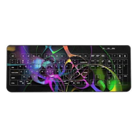 Colourful Fractal Art Wireless Keyboard