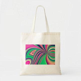 Colourful fractal design tote bag
