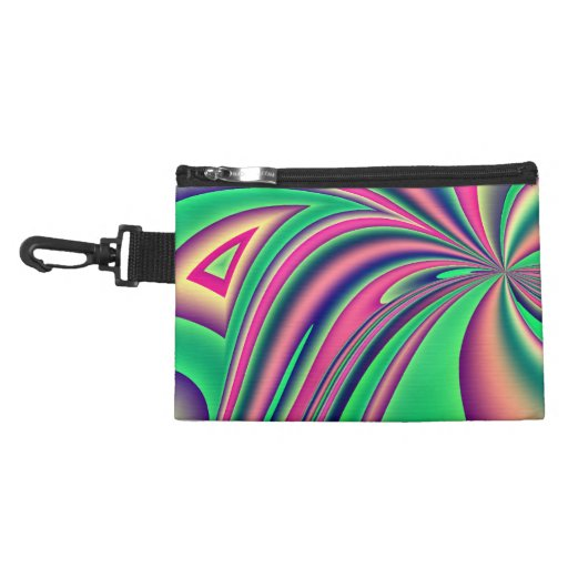 Colourful fractal design accessories bag