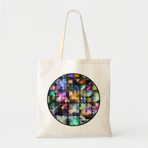Colourful Fractal Jewels Bags