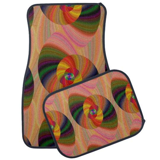 Colourful Fractal Swirl Set of 4 Car Mats