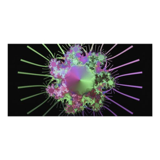 colourful-fractals custom photo card