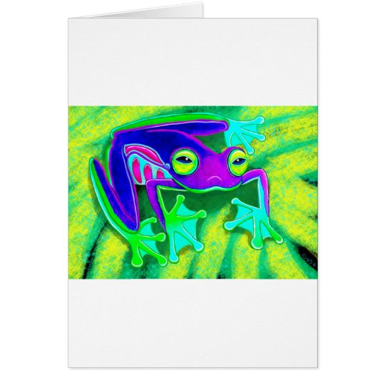 Colourful Frog Card