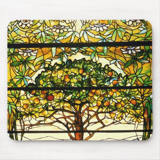 Colourful Fruit Tree by Louis Tiffany Mouse Pad