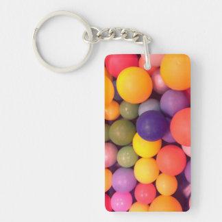 Colourful Fun Ball Pit Key Ring Double-Sided Rectangular Acrylic Key Ring
