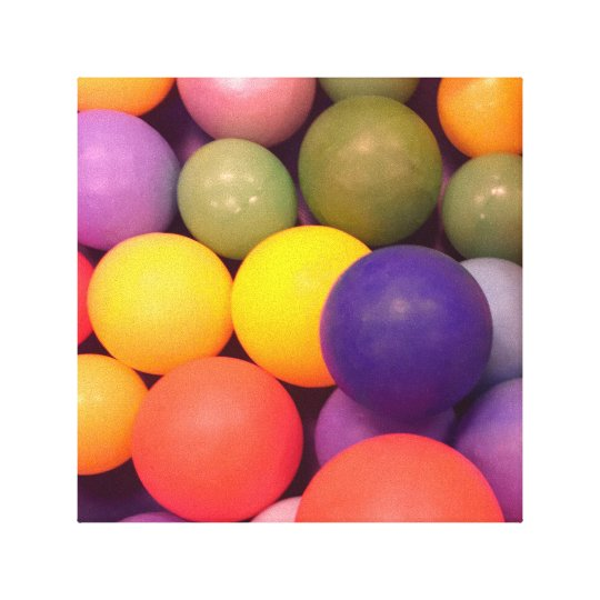 Colourful Fun Ball Pit Pattern Photography Canvas