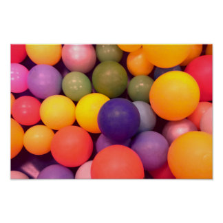 Colourful Fun Ball Pit Pattern Poster