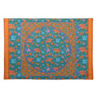 Colourful Fun Fish in the Sea Cloth Placemat