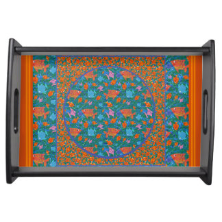 Colourful Fun Fish in the Sea Wooden Serving Tray