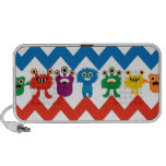 Colourful Fun Monsters Cute Chevron Striped iPod Speakers
