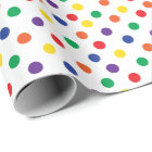 Colourful Fun Polka Dots Wrapping Paper