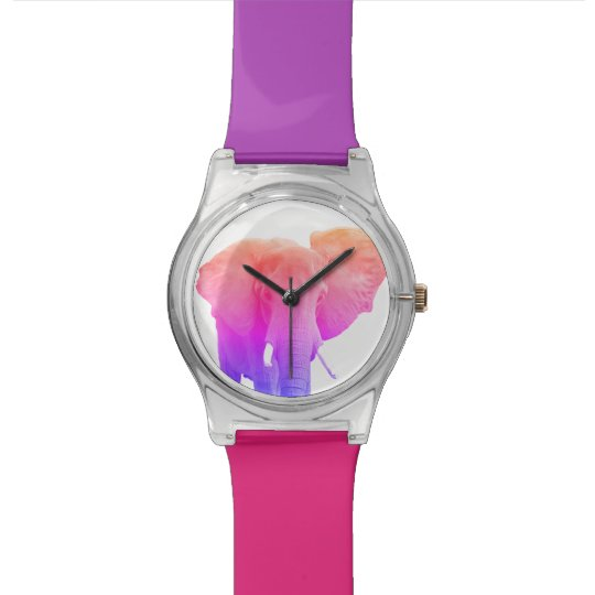Colourful Funky Elephant Watch