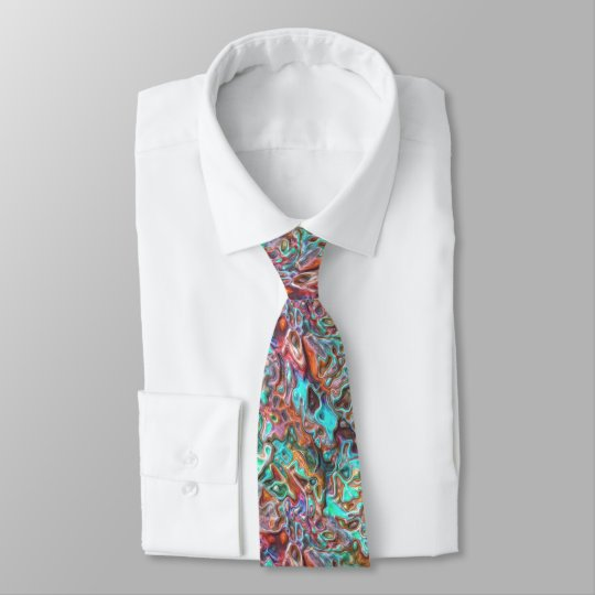 Colourful Funky Fun 3D Blur Waves Pattern Tie