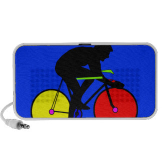 Colourful funky multi coloured bike mini speakers