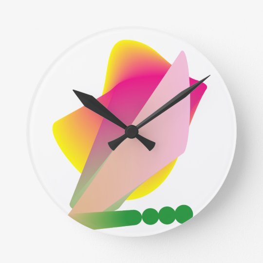 Colourful Funky Phresh Round Clock